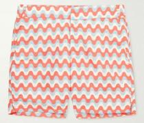 Copacabana Short-Length Printed Swim Shorts