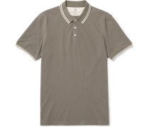 Contrast-tipped Cotton-piqué Polo Shirt