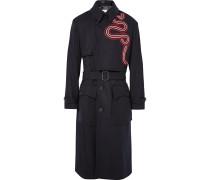Radley Grosgrain-trimmed Wool-blend Trench Coat