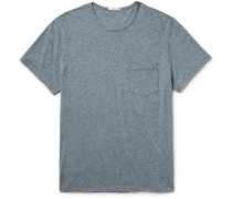 Slim-fit Mélange Cotton-blend Jersey T-shirt