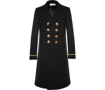 Slim-fit Double-breasted Wool-blend Coat