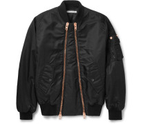 Slim-fit Shell Bomber Jacket