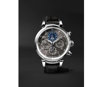 Da Vinci Perpetual Calendar Chronograph Automatic 43mm Stainless Steel and Alligator Watch, Ref. No. IW392103