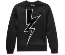 Appliquéd Bonded Jersey Sweatshirt