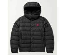 Born to Protect Dabos Convertible Logo-Appliquéd Quilted ECONYL Hooded Down Jacket
