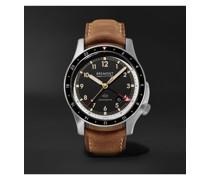 ionBird 43mm Automatic GMT Titanium and Nubuck Watch, Ref. No. IONBIRDMODEL12020-R-S