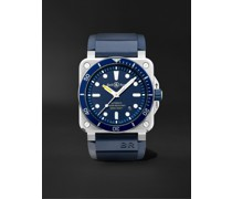 BR 03-92 Diver Blue Automatic 42mm Stainless Steel and Rubber Watch, Ref. No. BR0392-D-BU-ST/SRB