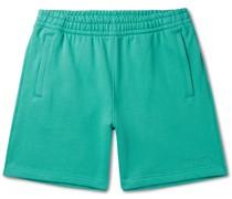 + Pharrell Williams Basics Logo-Embroidered Loopback Cotton-Jersey Shorts