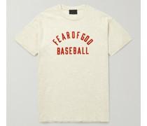 Logo-Flocked Cotton-Jersey T-Shirt