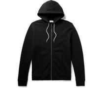 Loopback Cotton-Blend Jersey Zip-Up Hoodie