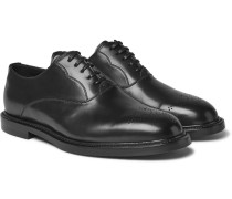 Marsala Leather Oxford Shoes