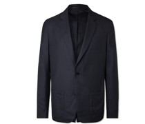 Lightweight Unstructured Cashmere and Silk-Blend Jacket