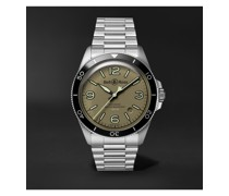 BR V2-92 Military Green Automatic 41mm Stainless Steel Watch, Ref. No. BRV292-MKA-ST/SST
