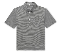 Striped Cotton and Linen-Blend Polo Shirt