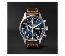 Pilot's Le Petit Prince Edition Automatic Chronograph 43mm Stainless Steel and Leather Watch, Ref. No. IW377714