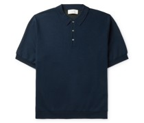 Luro Wool, Silk and Cashmere-Blend Polo Shirt