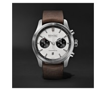 ALT1-C White-Black Automatic Chronograph 43mm Stainless Steel and Leather Watch, Ref. No. ALT1-C/WH-BK