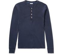 Slim-Fit Cotton-Jersey Henley T-Shirt