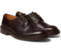Daniel Creased-leather Derby Shoes