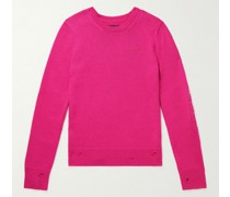 Slim-Fit Distressed Cashmere and Wool-Blend Sweater
