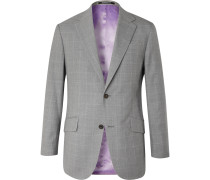 Checked Wool Suit Jacket