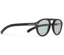 Private Collection Round-frame Horn Optical Glasses