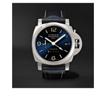 Luminor 1950 10 Days GMT Automatic 44mm Stainless Steel and Alligator Watch, Ref. No. PNPAM00986