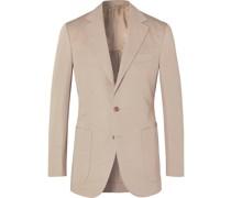 Slim-Fit Cotton and Linen-Blend Suit Jacket