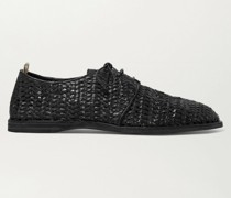 Moreira Woven Leather Derby Shoes