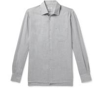 Slim-Fit Cotton and Cashmere-Blend Shirt