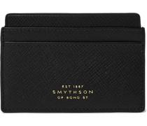 + Smythson Panama Cross-Grain Leather Cardholder