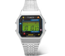 + Pac-Man T80 34mm Stainless Steel Digital Watch