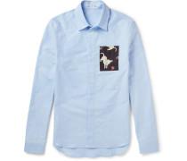Slim-fit Contrast-trimmed Cotton Oxford Shirt