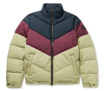 + Woolrich Quilted Colour-Block Cotton-Blend Ripstop Down Jacket