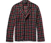 Oversized Checked Wool, Cotton And Alpaca-blend Shirt Jacket