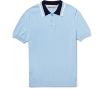 Contrast-trimmed Knitted Cotton Polo Shirt