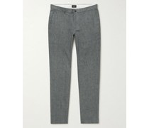 Connor Slim-Fit Linen-Blend Chinos