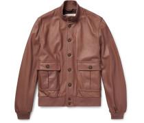 Valstarino Washed-leather Bomber Jacket