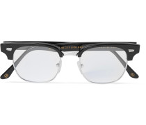 + Cutler And Gross Merlin's Square-frame Acetate And Silver-tone Optical Glasses