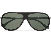 Chris Aviator-style Acetate Sunglasses