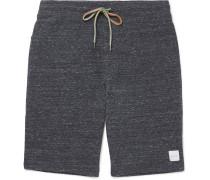 Waffle-knit Mélange Cotton-blend Jersey Shorts