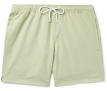 Timothy Mid-Length Striped Seersucker Swim Shorts