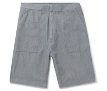 Paolo Striped Garment-Dyed Cotton Shorts