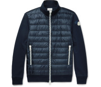 Cotton-jersey And Quilted Shell Down Jacket