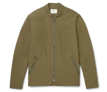 Tech Slim-fit Cotton-blend Shell Bomber Jacket