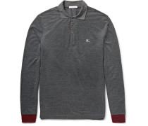 Brit Slim-fit Contrast-trimmed Piqué Polo Shirt
