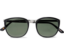 Brude D-frame Acetate And Silver-tone Sunglasses