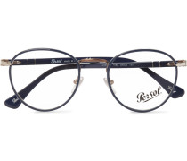 Round-frame Acetate And Metal Optical Glasses