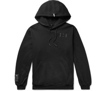 Appliquéd Printed Loopback Cotton-Jersey Hoodie