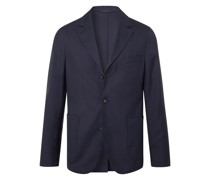 Armie Unstructured Wool-Flannel Suit Jacket